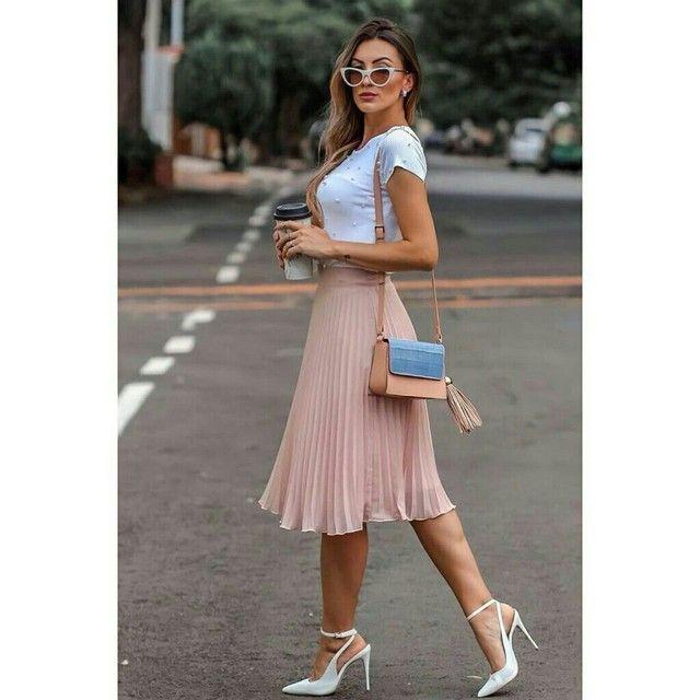 Saia plissada - Attractiva Fashion