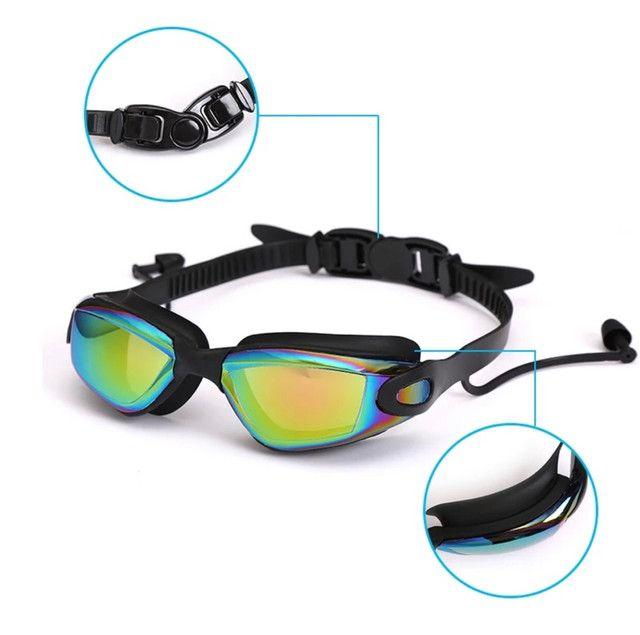Óculos De natação Profissional com tampões de ouvido e Nariz - Foto 5