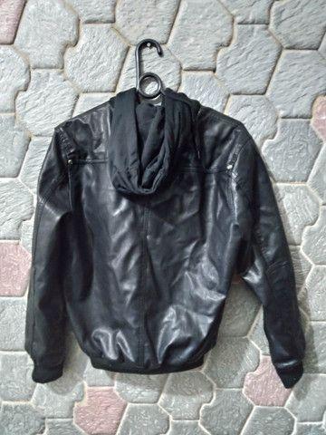 Jaqueta de Couro Hoffen, original - Tamanho P - Foto 2