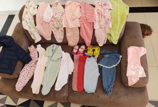 Lote de roupas para bebê tamanho p, m, g e gg