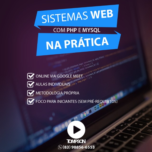 Curso Individual online de Sistemas Web na Prática com PHP e MySQL