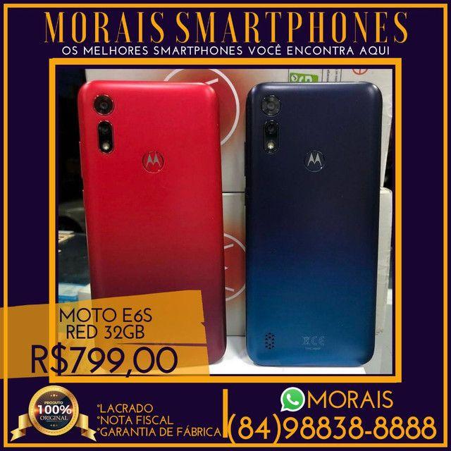 (PREÇO PROMOCIONAL) Motorola E6s 32Gb Red (NOTA FISCAL E GARANTIA DE 01 ANO)