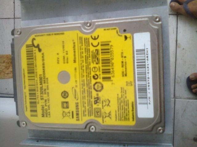 HD Samsung de 320 GBs para Notebook