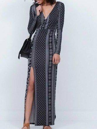 Vestido longo elegante veste M pouco usado