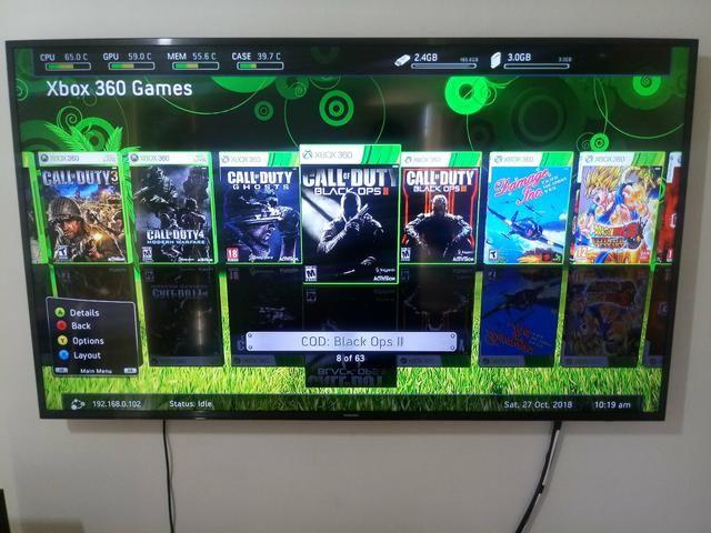 HD 500GB +Freestyle 3 + 63 jogos + 4 Emuladores para XBOX 360 RGH/JTAG