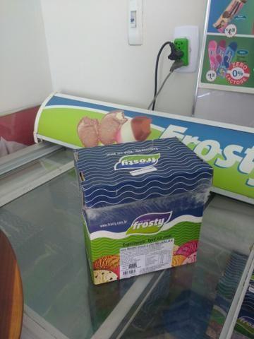 R$ 30,00 sorvete Frosty, caixa de 5L