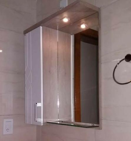 Armário Aéreo P Banheiro C Lampada Led