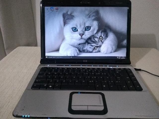 Notebook HP DV 2000, Windows 10 32bits, HD de 160, 3GB, tela de 14 1