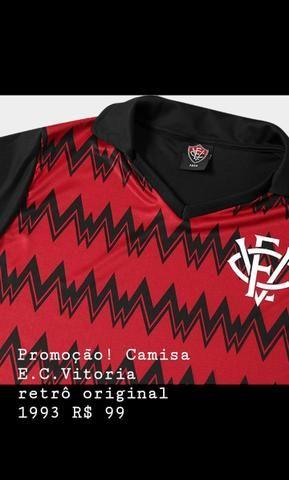 Camisa Vitória retrô 1993 - Foto 3