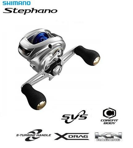 Carretilha Japonesa Shimano® Stephano 201XG 8.0:1 Drag:3.5Kgs Peso:148Grs
