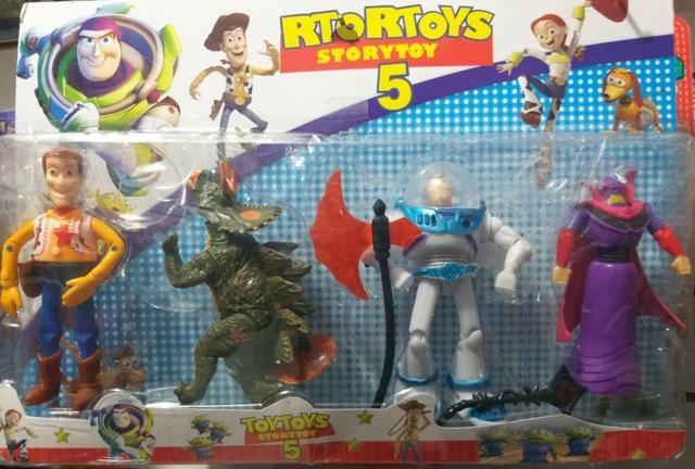 Toy Story 5 Com 4 Bonecos Kit Cartelado - Foto 3