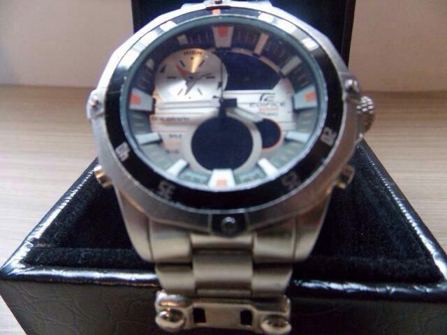 78b27939aa1 Relógio Casio Edifice- Aço - Bijouterias