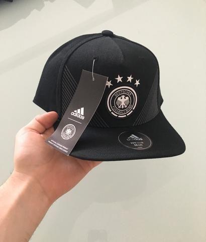 Boné Alemanha Adidas Aba reta Original - Bijouterias ad9febf0b156a