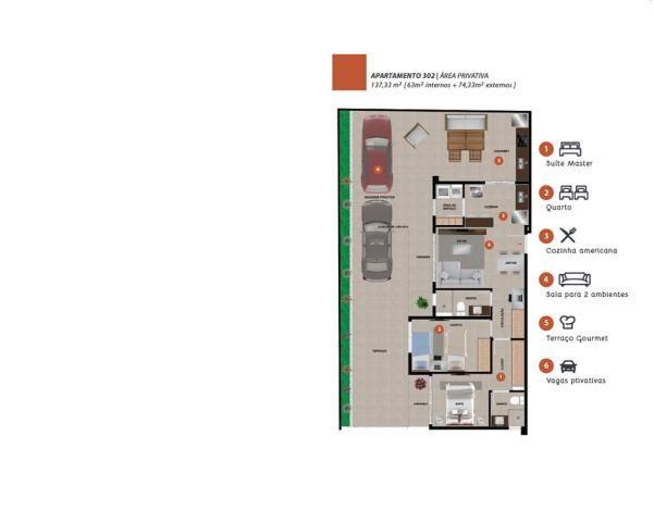 Área privativa à venda, 2 quartos, 2 vagas, nova granada - belo horizonte/mg - Foto 3