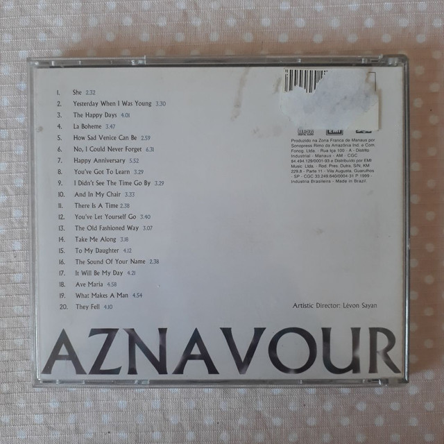 CD The Best of Charles Aznavour - She - Foto 2