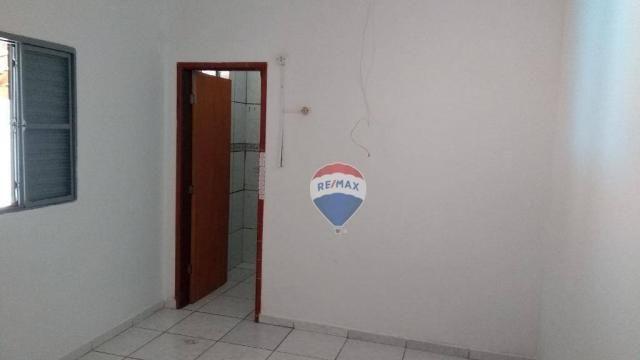 Casa 02 dormitórios e/ou salão comercial, locação, R$ 900,00 cada, Cosmópolis, SP - Foto 6