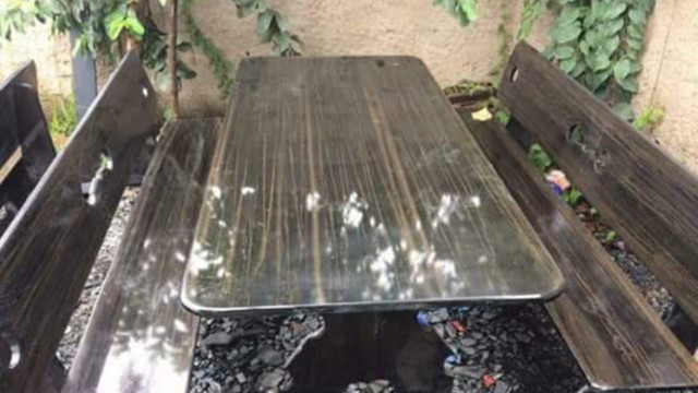 Conjunto de mesa de ardósia - Foto 2