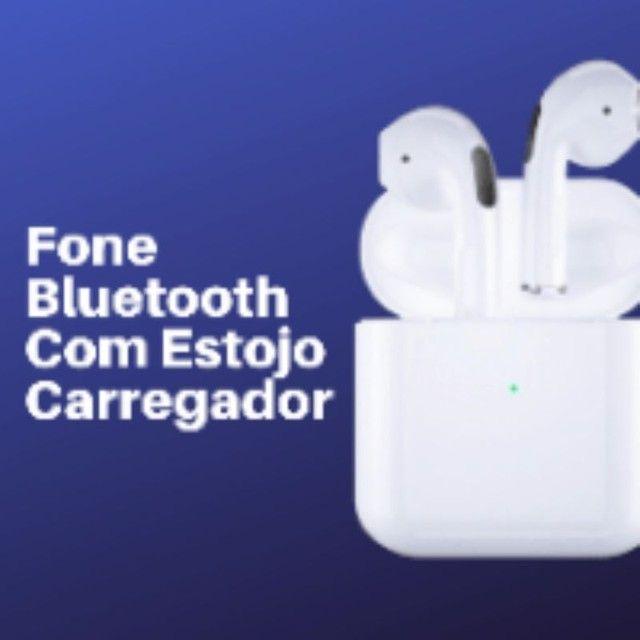 Fone de Ouvido Bluetooth com case carregador  - Foto 2