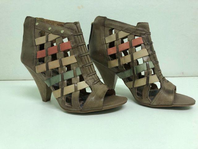 Colore Sapato Todo em Couro - Foto 4