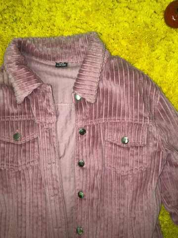 Lindo casaco de veludo rosa  - Foto 2