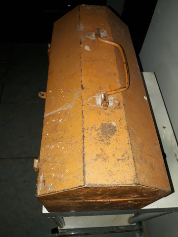 Caixa de ferramenta antiga em aço  - Foto 2