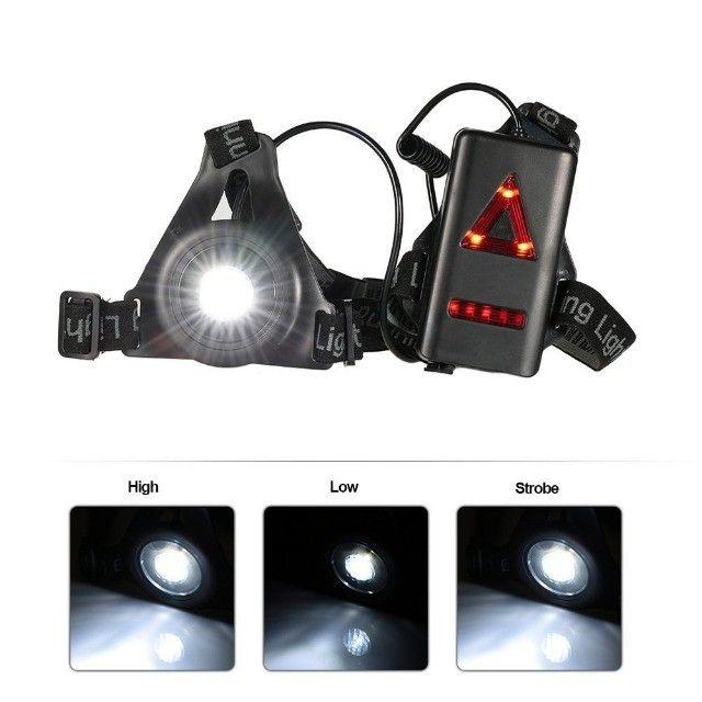 Lanterna de peito para a prática de corrida noturna (night run) Light running - Foto 4