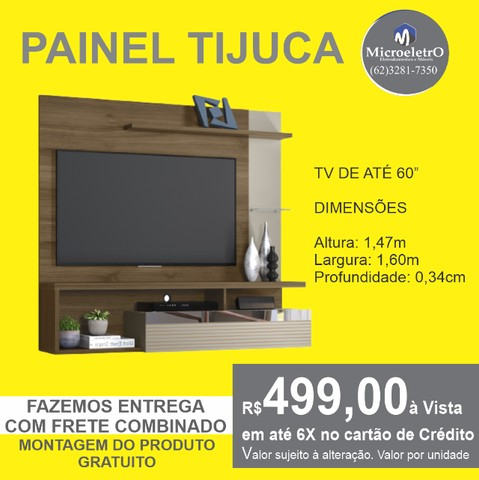 Painel Tijuca para TV de até 60 polegadas