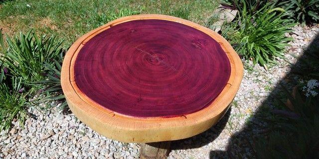 Tábua para churrasco e frios em madeira Roxinho