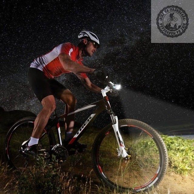 Farol Lanterna led forte com buzina para bike bicicleta - Foto 4