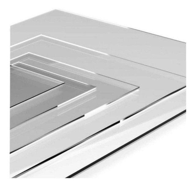 Chapa Ps Cristal 100cm X 50cm Similar Acrílico - Espessura 3mm