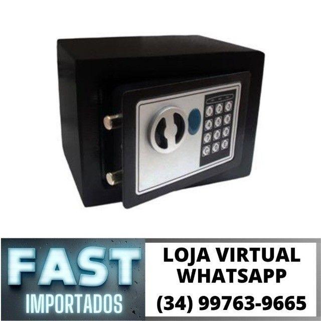 Cofre Eletrônico Digital Senha e Chave 23x17x17cm