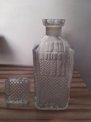 garrafa antiga para bebidas antiga vidro bico de jaca - Foto 5