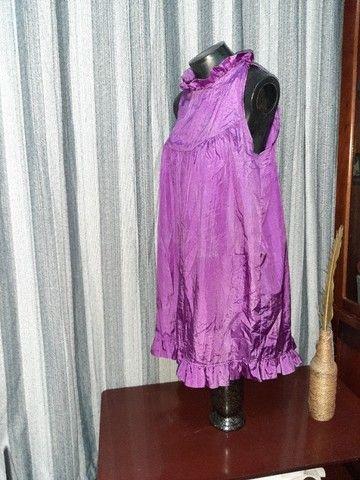 Vestido Lilás - Tamanho  M - Foto 3