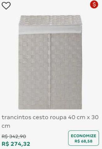 Cesto de roupa tracintos 40x30cm