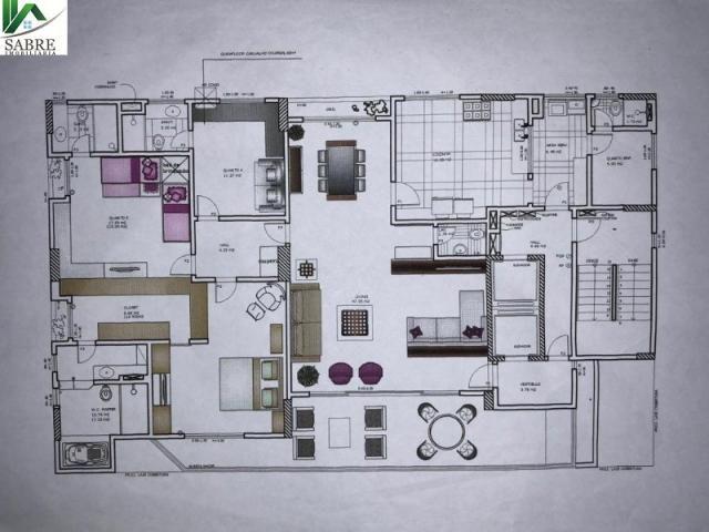Apartamento 3 suítes a venda, Condomínio Saint Romain, bairro Vieiralves, Manaus-AM - Foto 6