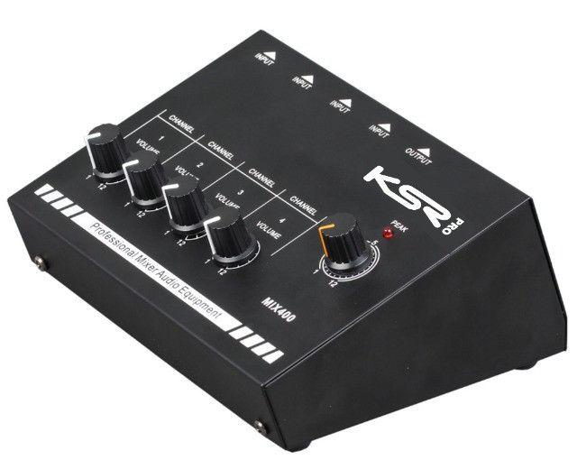 Mesa De Som 4 Canais Mix400 Mini Mixer Bateria,gravação,estúdios,home-audio,som automotivo - Foto 3