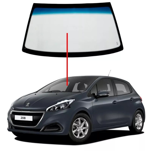 Para-brisa Peugeot 208 sem sensor já instalado