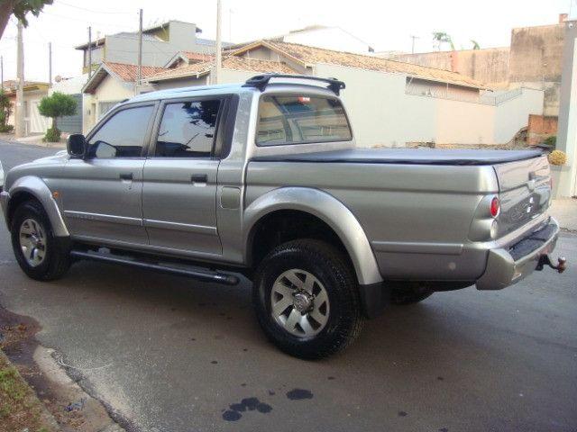 L-200 2.5 Sport HPE 4x4 Cabine Dupla Turbo Automatica - 2006 - Diesel - Prata - Foto 6