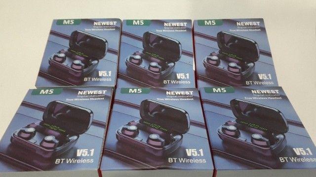 Fone de Ouvido Bluetooth TWS M5 bt 5.1