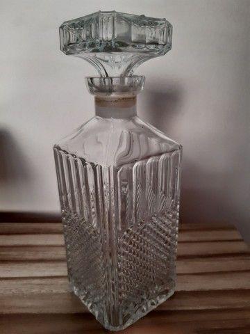 garrafa antiga para bebidas antiga vidro bico de jaca - Foto 2