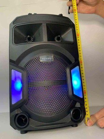 Caixa de Som 2000W Bluetooth ES802 + Microfone sem fio! - Foto 2