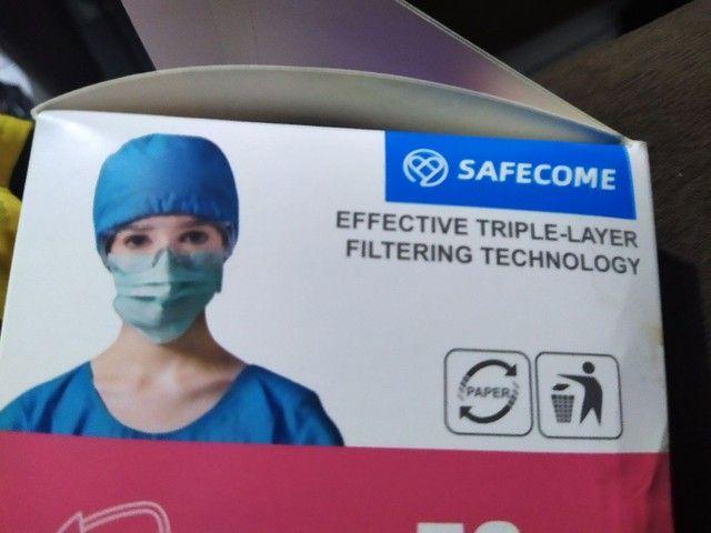 Kit pacote com 10x máscaras tripla TNT adulta confortável  - Foto 3