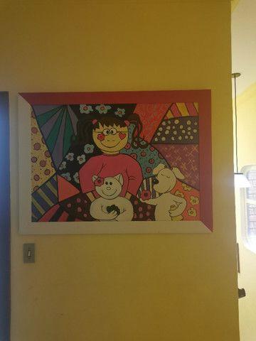 Quadro Pintura a óleo- infantil tema cubismo - Foto 2