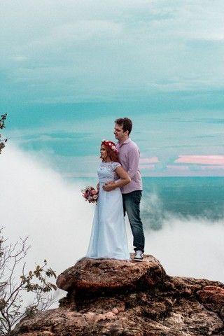 Vestido de noiva e buquê - Foto 2