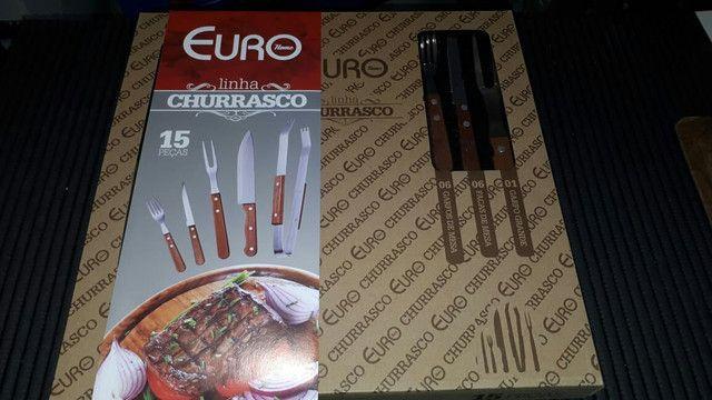 Conjunto para Churrasco 15 pecas ; Novo - Foto 2