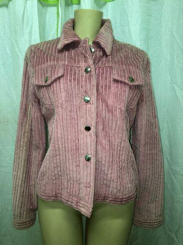 Lindo casaco de veludo rosa  - Foto 3