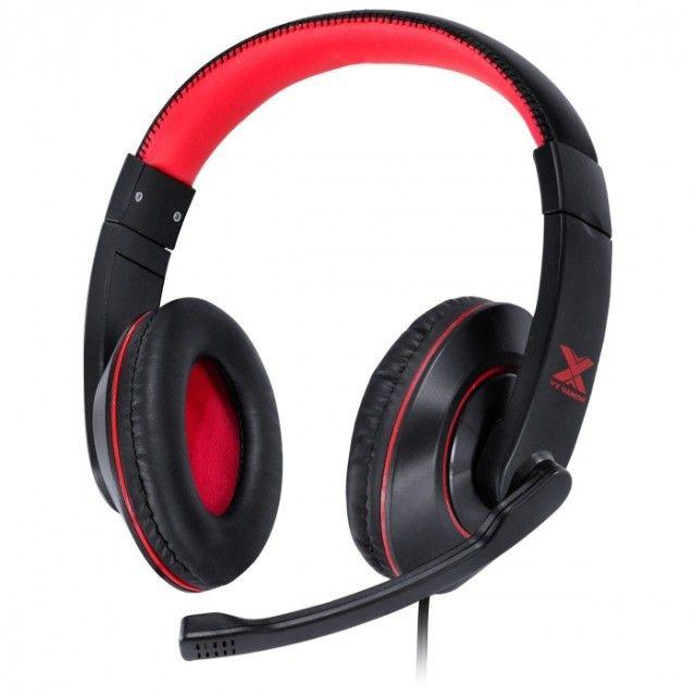 headset gamer v blade ii usb com mic retratil preto com vermelho - gh200 - Foto 6