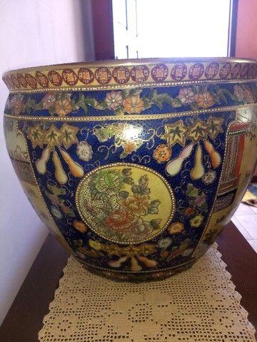 vaso aquário de porcelana chinesa antigo século XIX - Foto 3