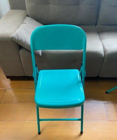 Mesa com cadeira de aço - Foto 4