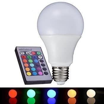 Lampada de led bulbo RGB com controle